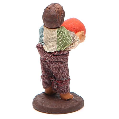 Fanciullo in piedi con palla 10 cm presepe Napoli 3