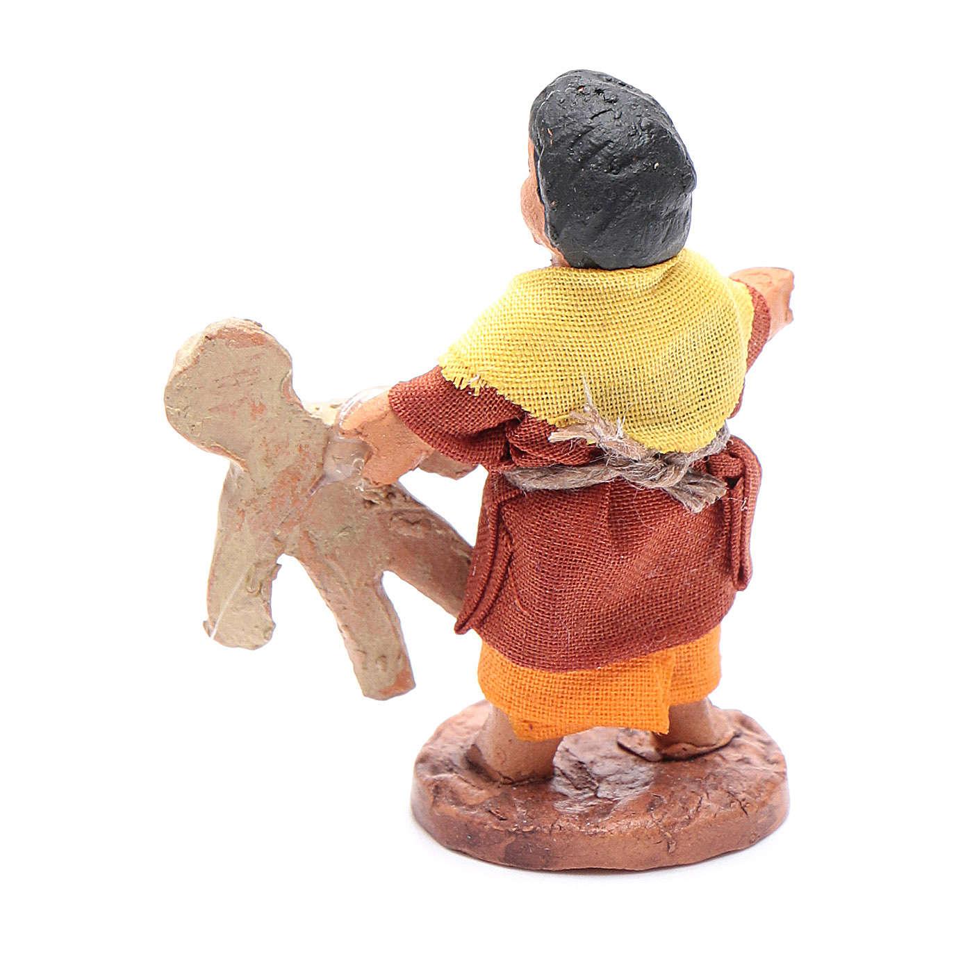 Enfant avec ourson en peluche 10 cm crèche napolitaine 4