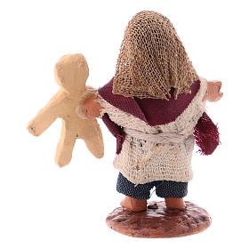 Enfant avec ourson en peluche 10 cm crèche napolitaine s2
