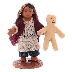 Little boy with teddybear 10cm neapolitan Nativity s1