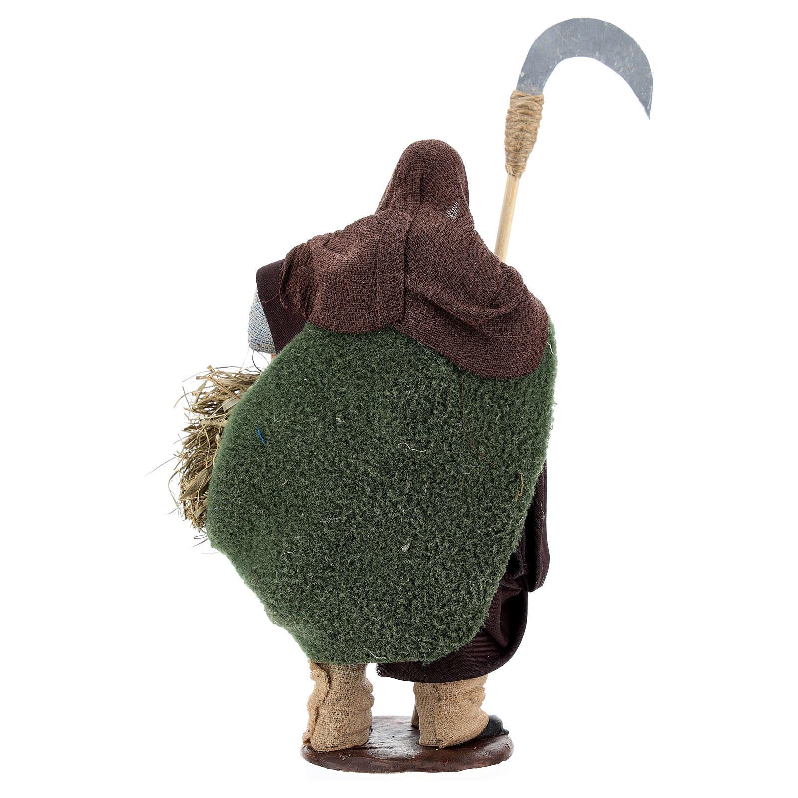 Hombre con  guadaña 14 cm belén Napolitano 4
