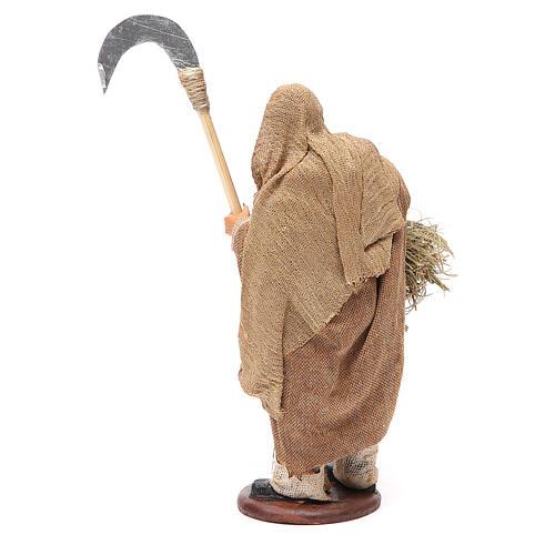 Homme avec faux 14 cm crèche napolitaine 3