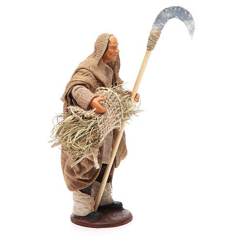Homme avec faux 14 cm crèche napolitaine 4