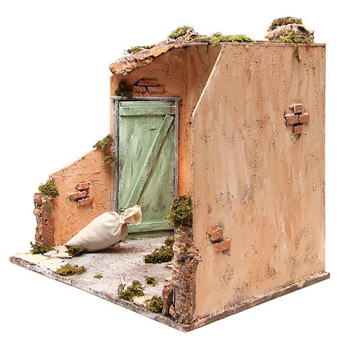 Basement scenery 40X40X40 cm Neapolitan Nativity 2