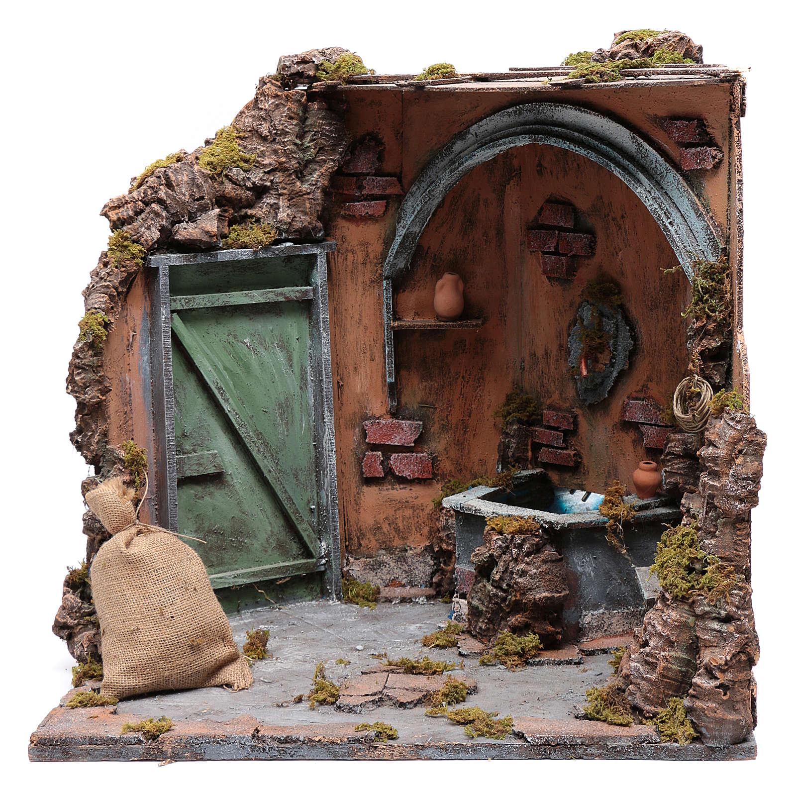 Ecsena con fuente y  puerta 40X40X40 cm 4