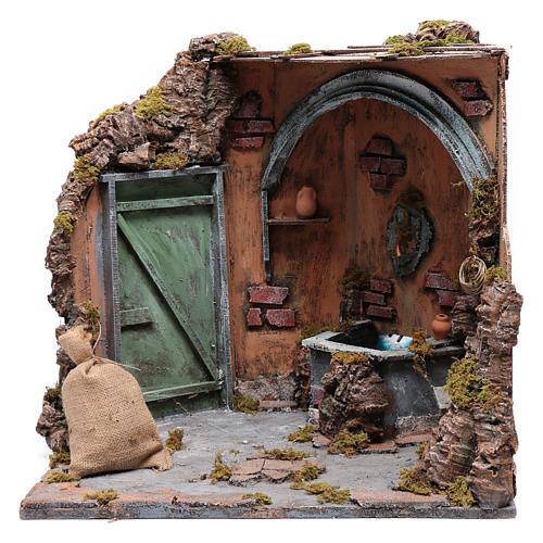 Ecsena con fuente y  puerta 40X40X40 cm 5