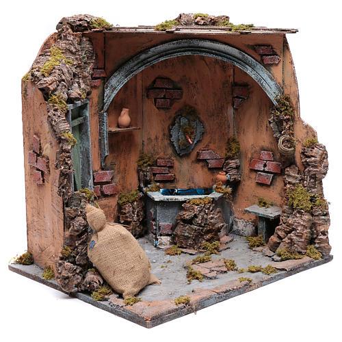 Ecsena con fuente y  puerta 40X40X40 cm 6