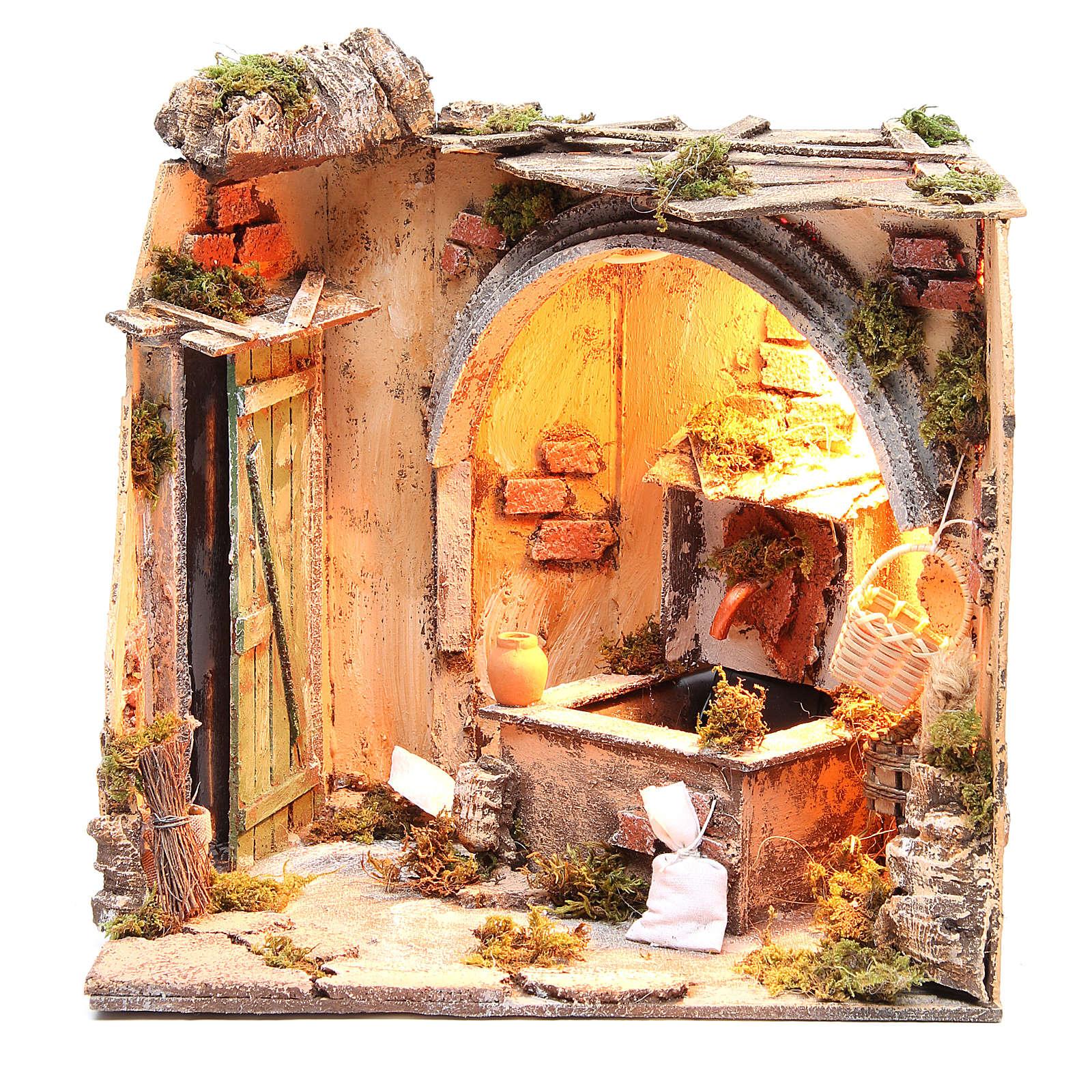 Setting basement & fountain 28x26x24 cm Neapolitan Nativity 4