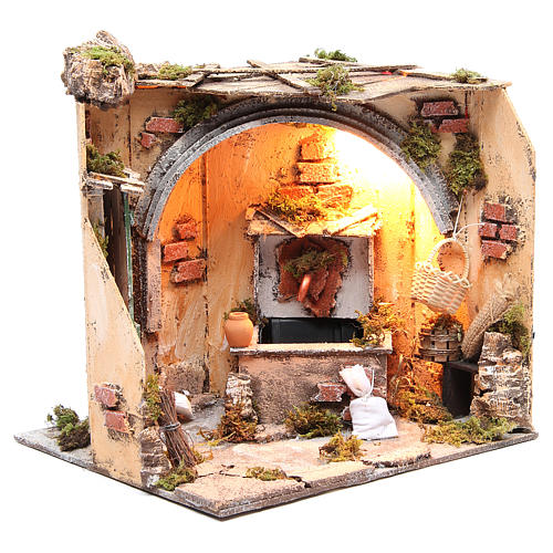 Setting basement & fountain 28x26x24 cm Neapolitan Nativity 3