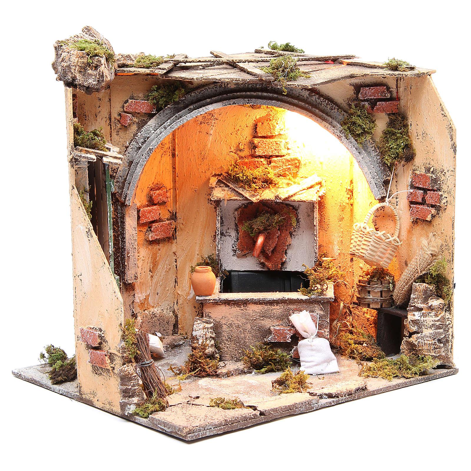 Ambiente cantina fontana 28x26x24 cm presepe napoletano 4