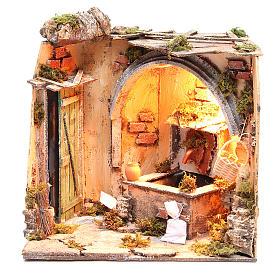 Ambiente cantina fontana 28x26x24 cm presepe napoletano s1