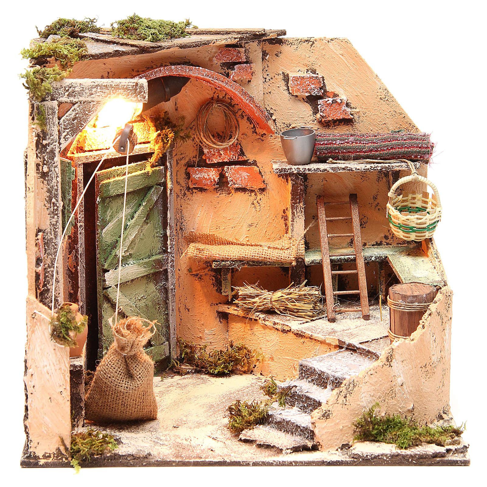 Décor cave 28x26x24 cm décor crèche napolitaine 4