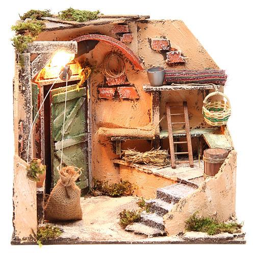 Ambiente cantina 28x26x24 cm presepe di Napoli 1