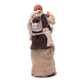 Milk seller with wooden buckets for Neapolitan Nativity, 14cm s4