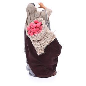 Mujer saco manzanas y tronco en mano 14 cm belén Nápoles s4