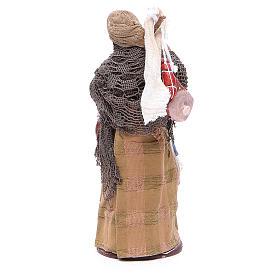 Donna viandante con salumi 14 cm presepe napoletano s4
