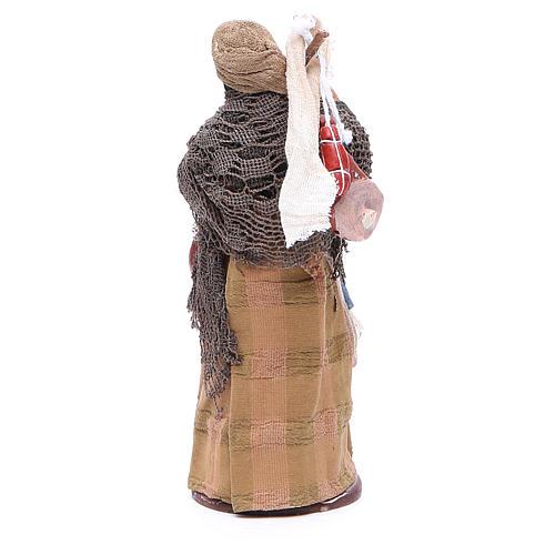 Donna viandante con salumi 14 cm presepe napoletano 4