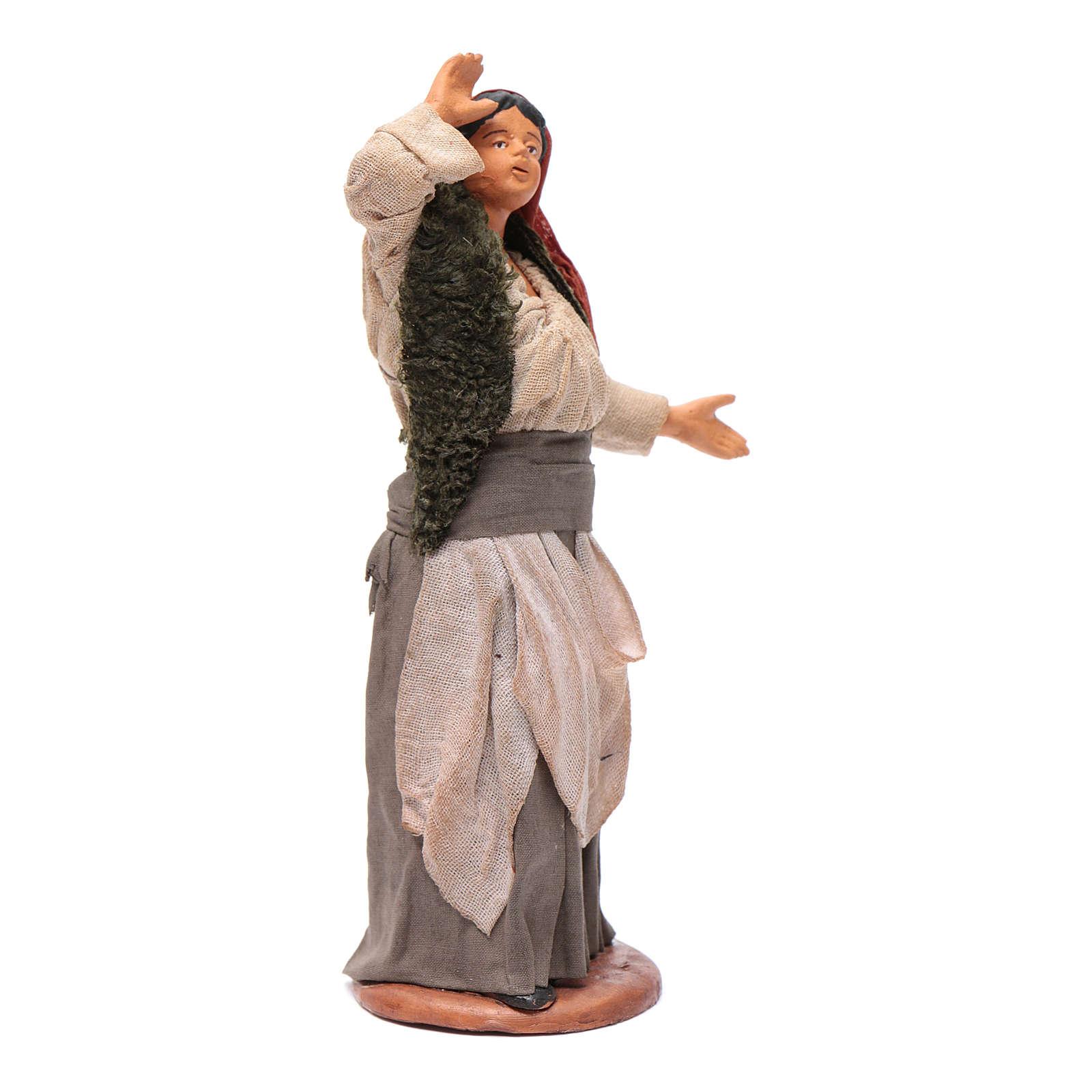 Frau beim Sternen Schauen 14cm neapolitanische Krippe 4
