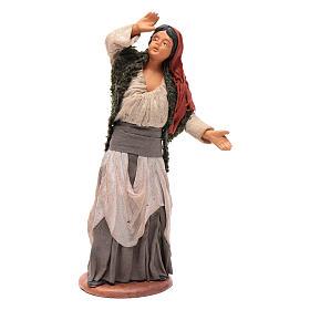 Frau beim Sternen Schauen 14cm neapolitanische Krippe s1
