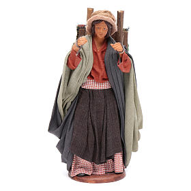 Woman carrying fabrics, figurine for Neapolitan Nativity, 14cm s1
