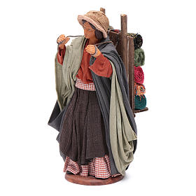 Woman carrying fabrics, figurine for Neapolitan Nativity, 14cm s2