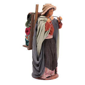 Woman carrying fabrics, figurine for Neapolitan Nativity, 14cm s4