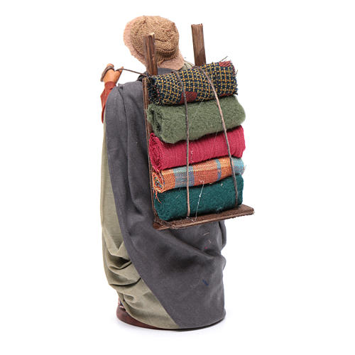 Woman carrying fabrics, figurine for Neapolitan Nativity, 14cm 3