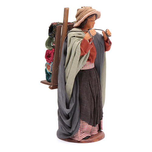 Woman carrying fabrics, figurine for Neapolitan Nativity, 14cm 4