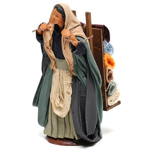Woman carrying fabrics, figurine for Neapolitan Nativity, 14cm 3