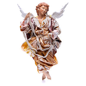 Angelo biondo 45 cm veste oro presepe Napoli s1