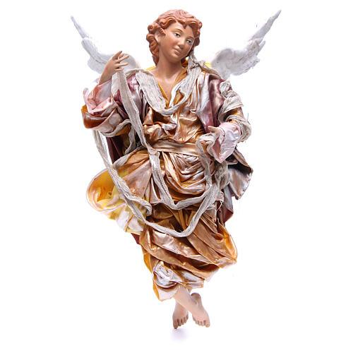 Angelo biondo 45 cm veste oro presepe Napoli 1