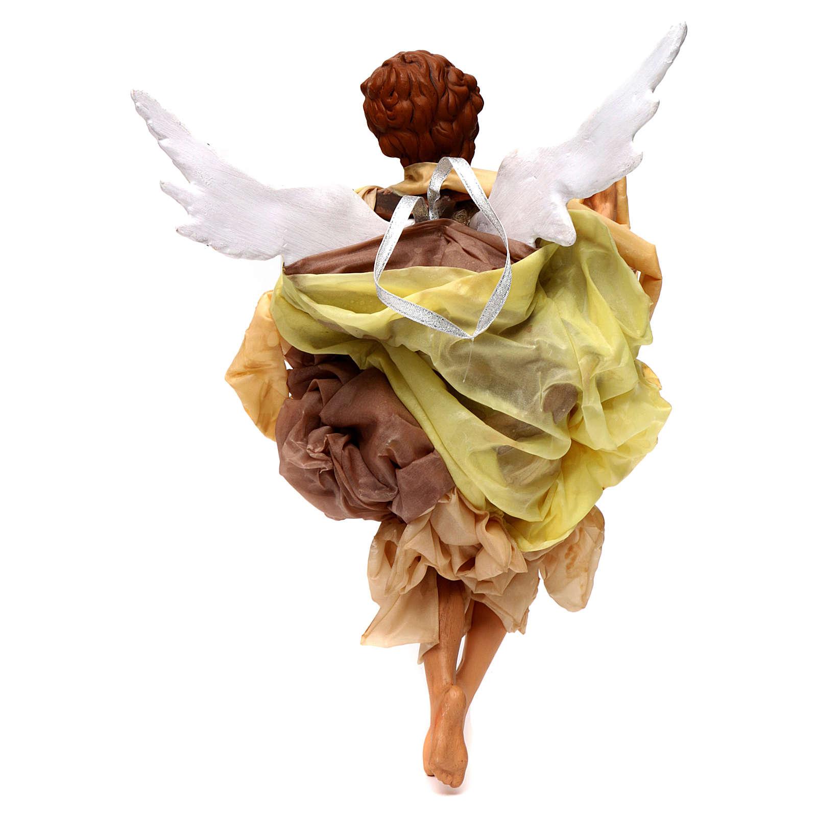 Anjo louro roupa dourada para presépio napolitano com peças de 45 cm altura  média 4