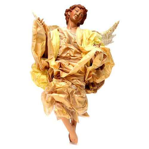Anjo louro roupa dourada para presépio napolitano com peças de 45 cm altura  média 1