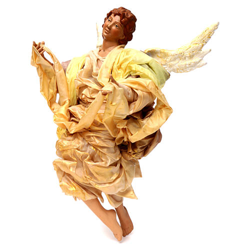 Blonde angel with gold clothes, figurine for Neapolitan Nativity, 45cm 2