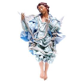 Ange roux 45 cm avec robe bleu clair crèche Naples s1