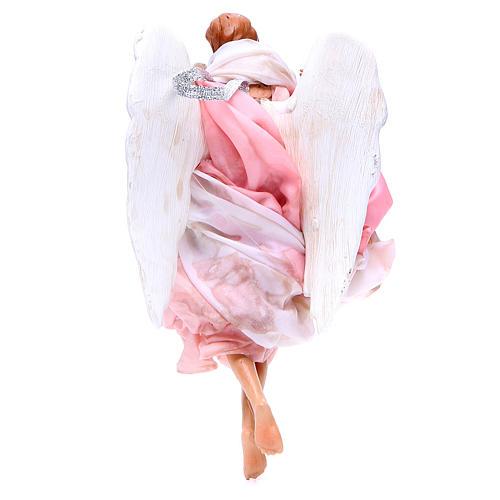 Ange 18-22 cm rose ailes pliées crèche Naples 2
