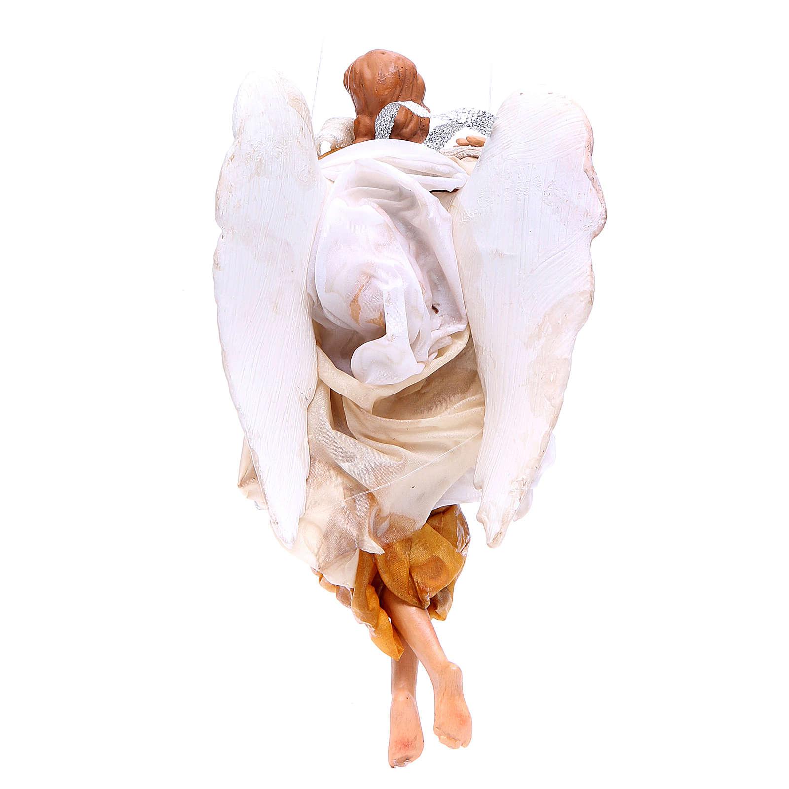 Ange 18-22 cm or ailes pliées crèche Naples 4