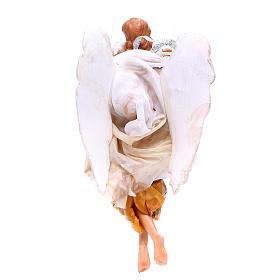 Ange 18-22 cm or ailes pliées crèche Naples s2