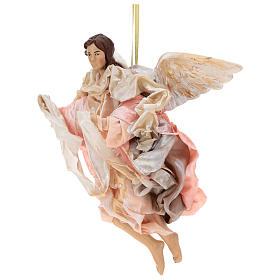 Pink angel with curved wings, figurine for Neapolitan Nativity, 30cm s3