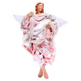 Angelo rosa 30 cm presepe napoletano s1