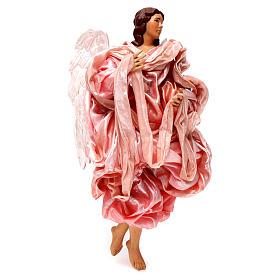 Angelo rosa 30 cm presepe napoletano s3