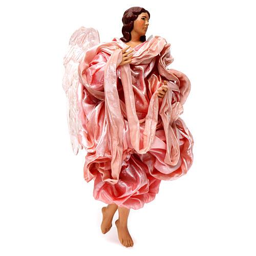 Angelo rosa 30 cm presepe napoletano 3