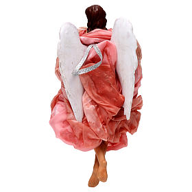 Pink angel with curved wings, figurine for Neapolitan Nativity, 30cm s4