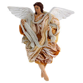 Gold angel with curved wings, figurine for Neapolitan Nativity, 30cm s1
