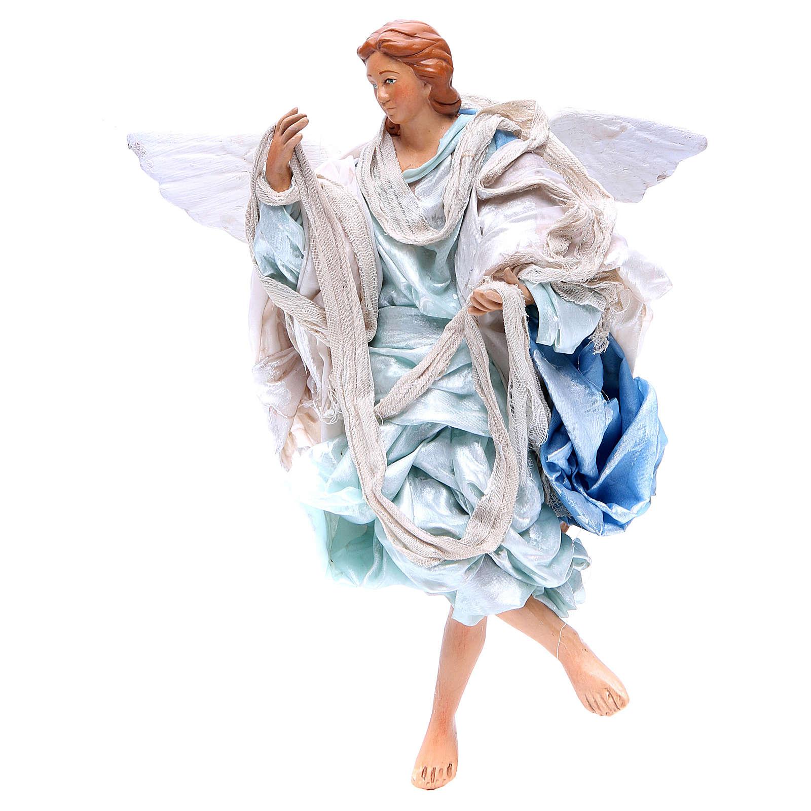 Angelo azzurro 30 cm presepe napoletano 4