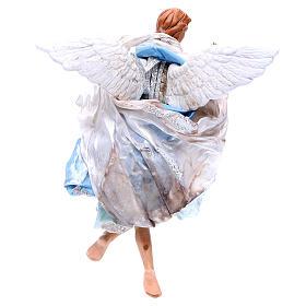Angelo azzurro 30 cm presepe napoletano s2