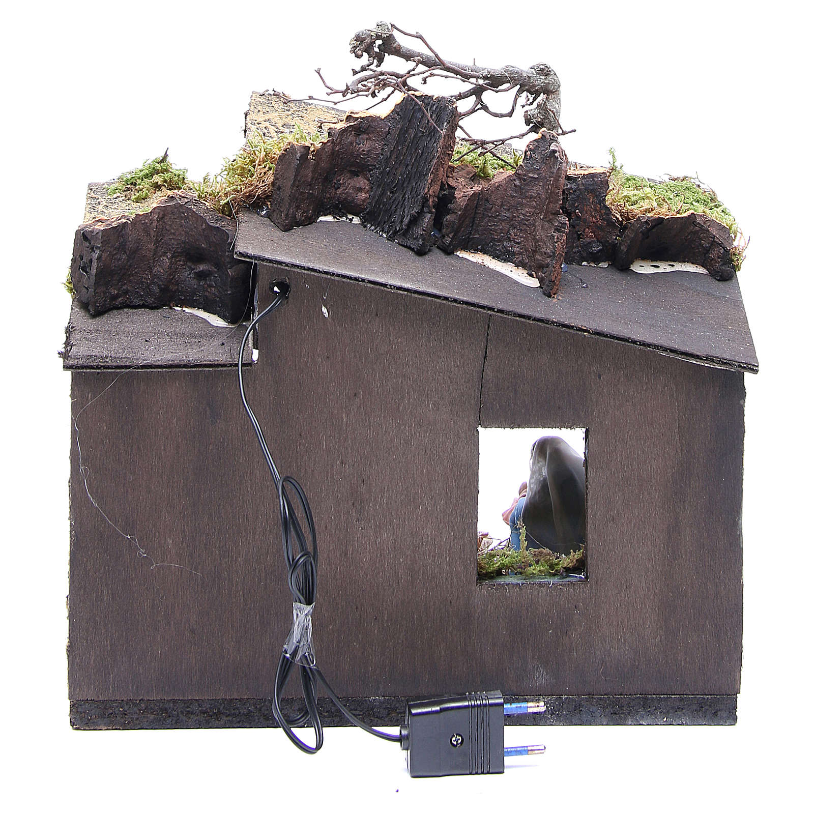 Natività con pastore e ambiente 10 cm presepe napoletano 4