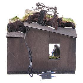 Natività con pastore e ambiente 10 cm presepe napoletano s4