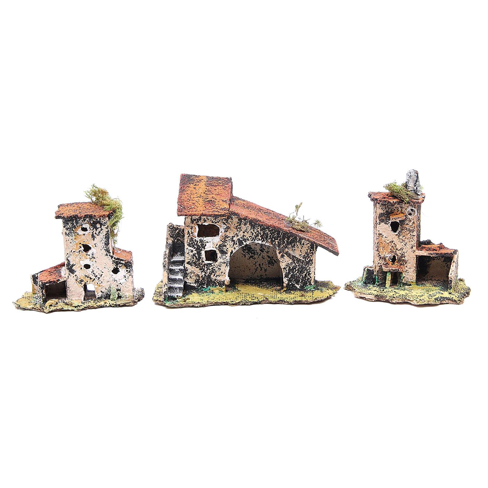 Kit maisons 7 pcs crèche Naples 7x12x7 cm 4