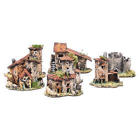 Kit maisons 7 pcs crèche Naples 7x12x7 cm s1